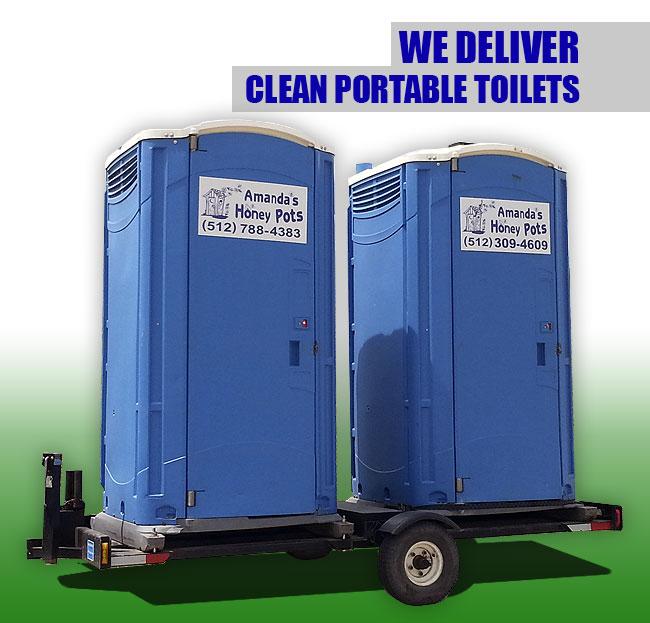 We deliver clean portable toilets